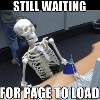 page loading time, long time for page to load, website load time, loading time